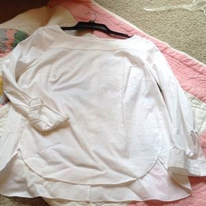 Crisp white cotton shirt